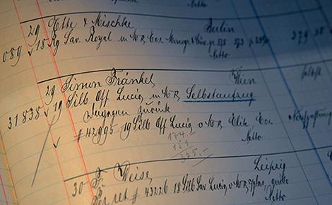 グートケス&ランゲの注文台帳