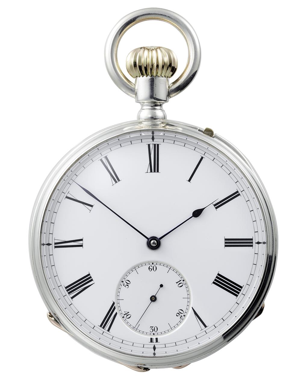 1882年製のアンクル脱進機付きクロノメーター懐中時計