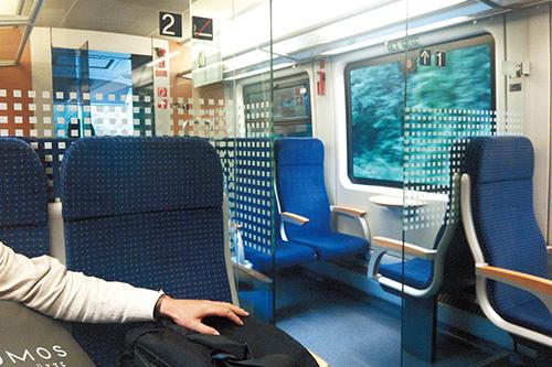 列車内の写真