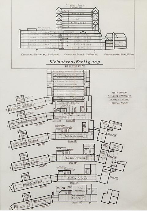 テラスビルディングを含む当時の見取り図