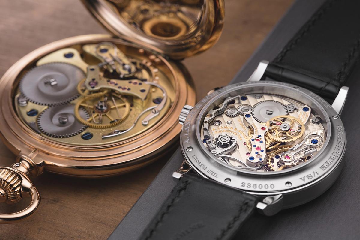 ランゲの懐中時計と腕時計