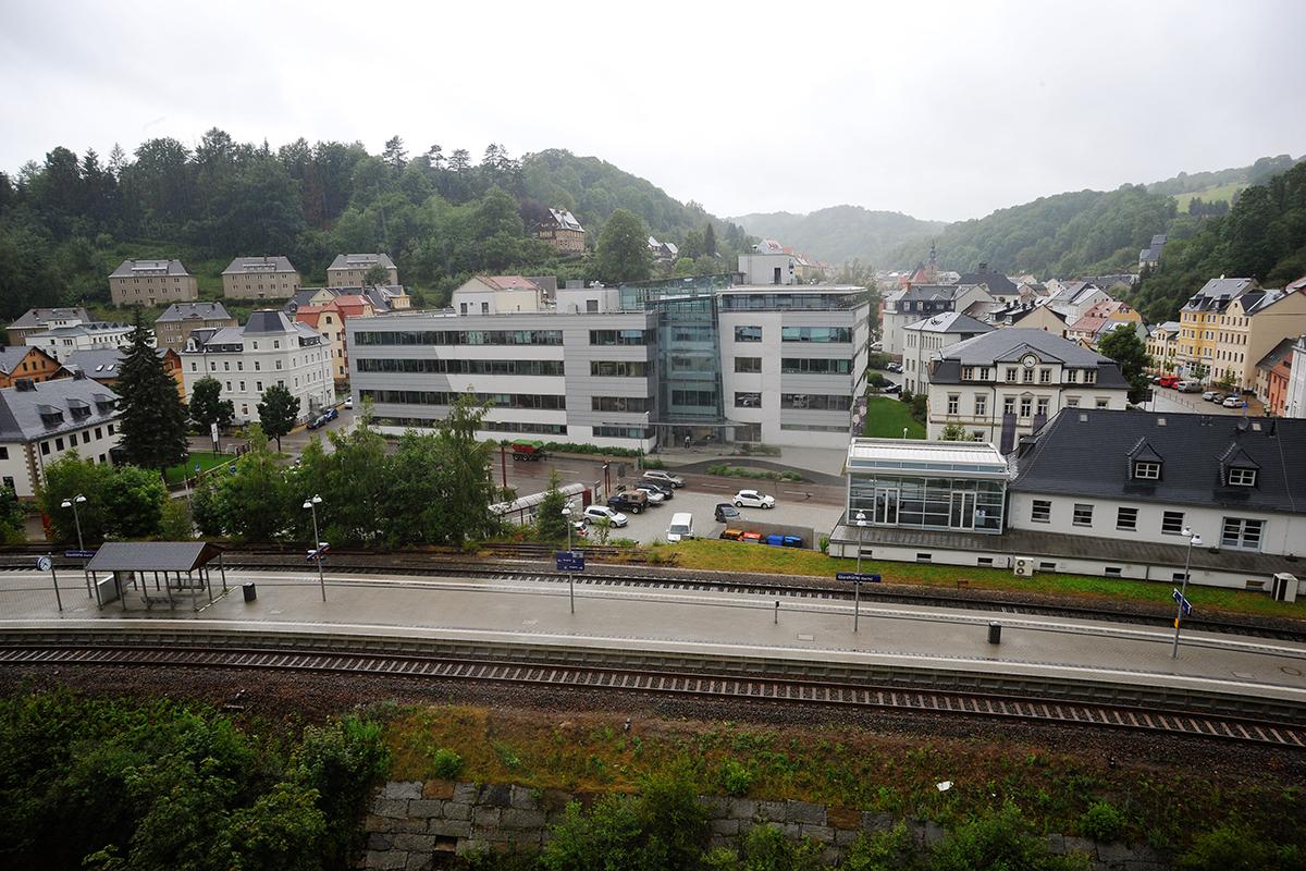 グラスヒュッテ駅前風景